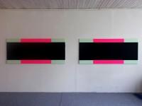2x90x210cm acrylic on canvas