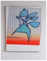 140x110cm acrylic wax velours